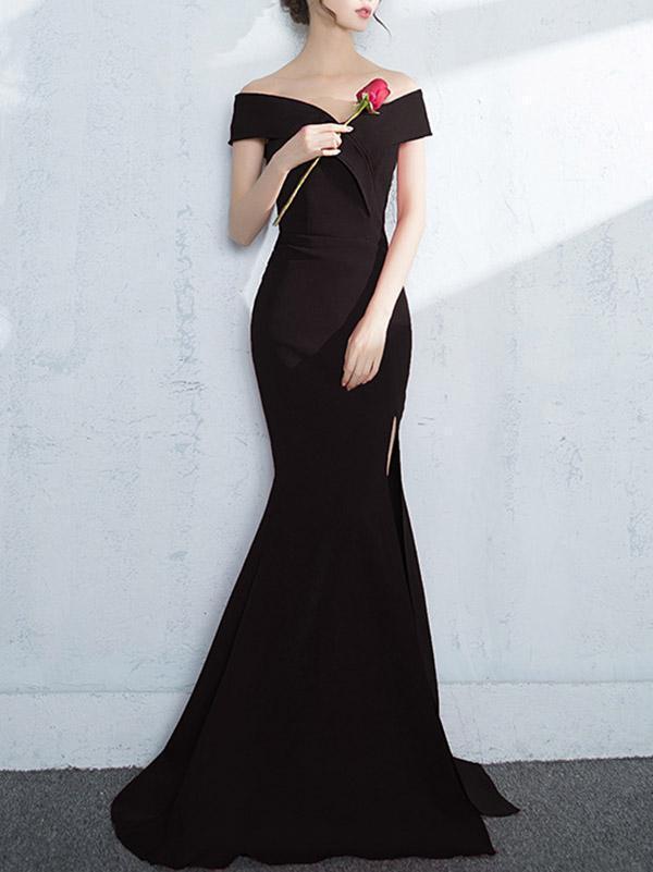 Off-the-shoulder Mermaid Evening Dress