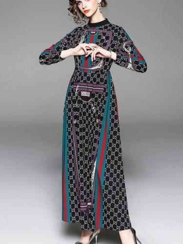 New Fashion Floral Skater Maxi Dresses