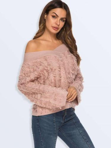 Sexy V neck Purl Knit Sweaters