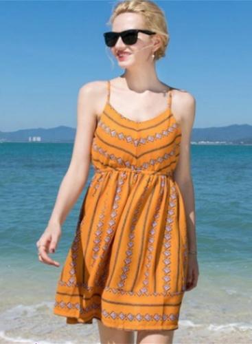 Chiffon Floral-Print Beach Mini Dress
