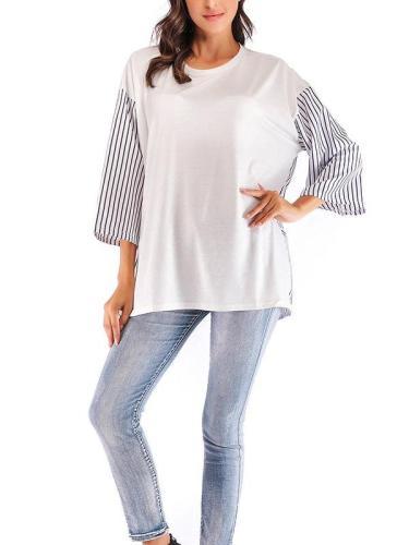 Autumn New Plus Nine points sleeve T-Shirts