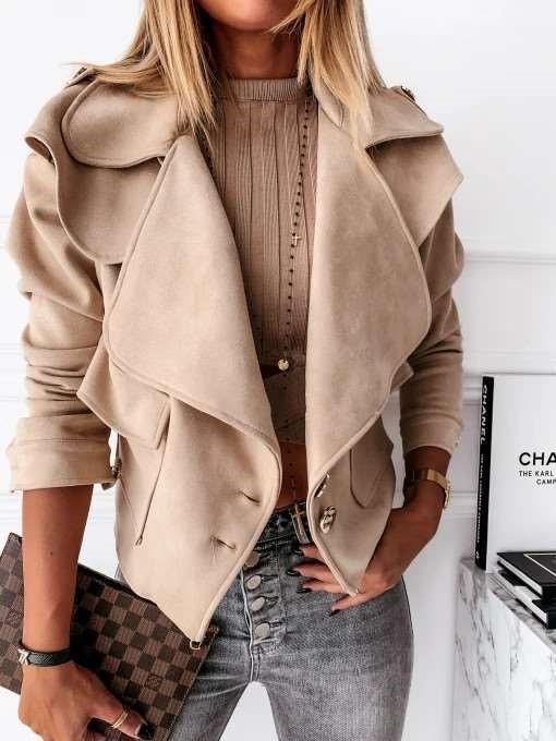 Fashion Casual Pure Lapel Long sleeve Jackets