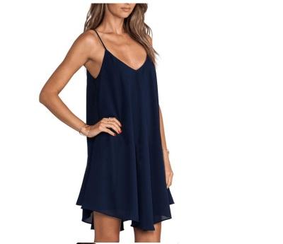 Fashion Backless Vest Shift Dresses