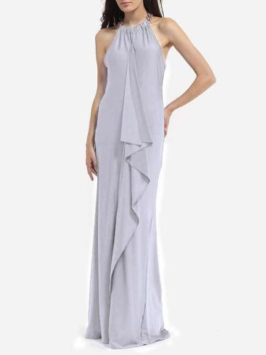 Sexy Gored Irregular Maxi Dresses