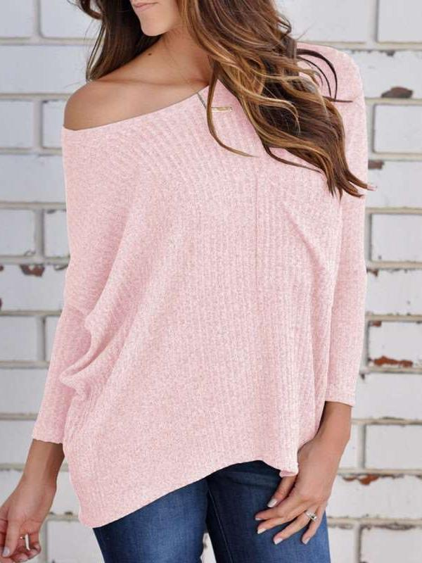 Sexy Off shoulder Long sleeve Knit Sweaters