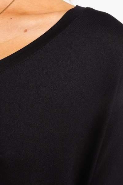 Fashion Round neck Pure Long sleeve Irregular T-Shirts