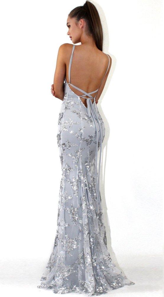 Sexy V neck  Paillette Evening Dresses