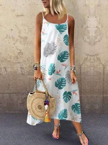 Cotton & Linen Printed Women Maxi Dresses