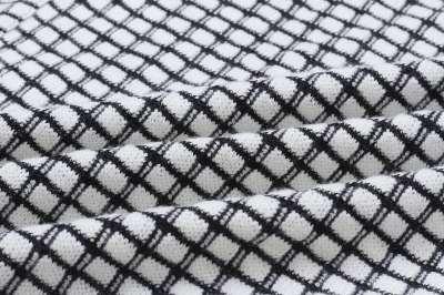 Fashion Plaid Knit Cardigan Coats