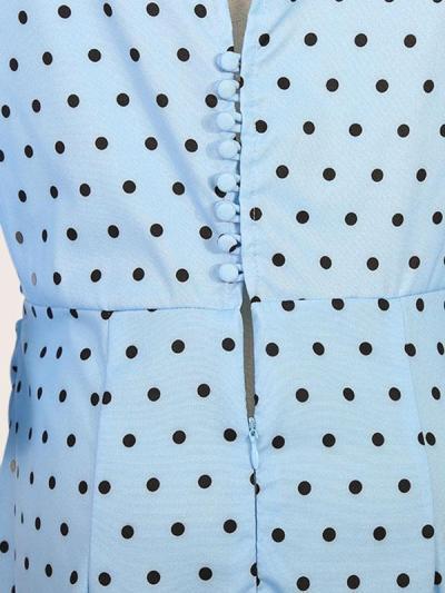 Crew Neck Cutout Flounce Belt Loops Ruffles Polka Dot Petal Sleeve Bodycon Dresses