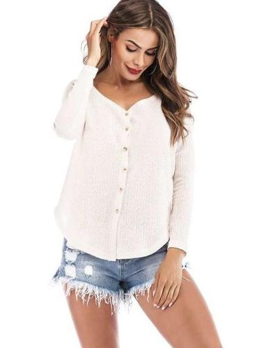 Fashion Knit Long sleeve Cardigan Sweaters