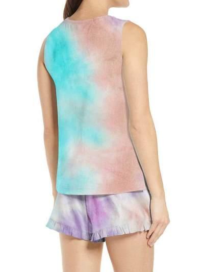 Stylish Gradient Claire vest suits two pieces for women