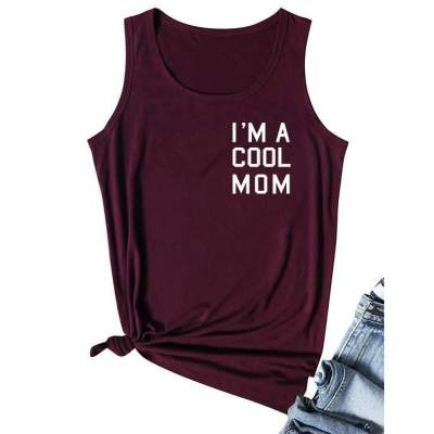 Fashion Round neck Sleeveless Word print T-Shirts