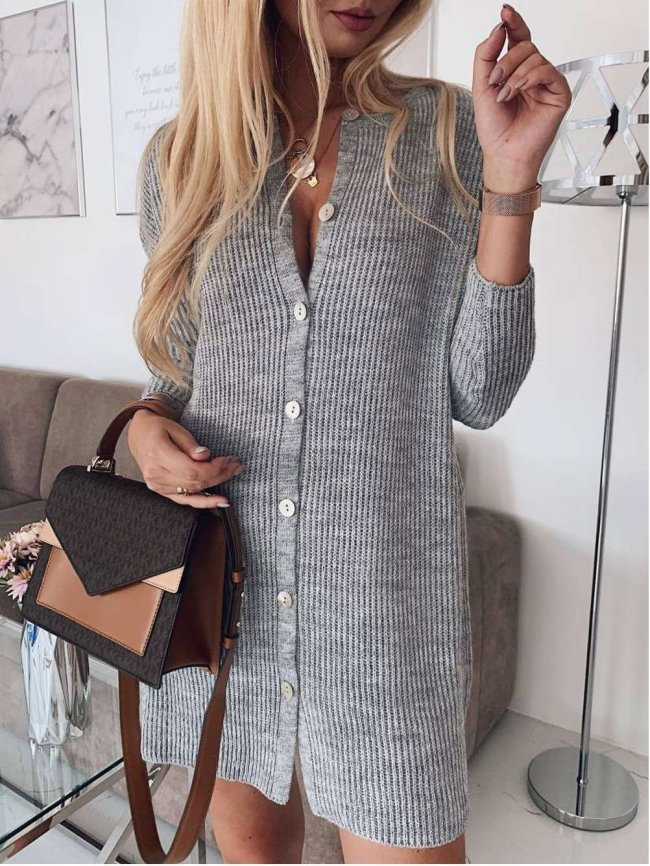Sexy Tee Knit Long sleeve Sweater Cardigan