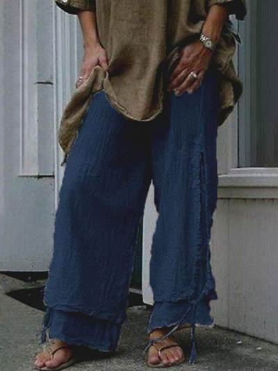 Casual Loose Women comfy long plain pants