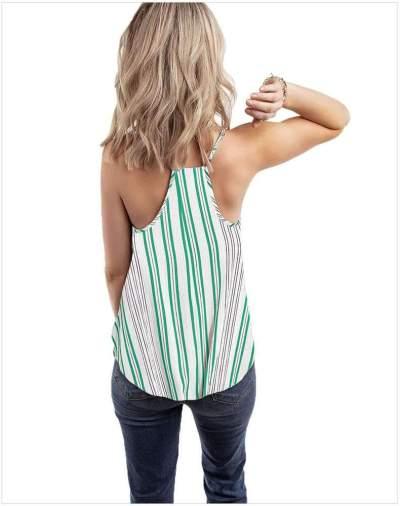 Sexy Stripe Off shoulder Halt Vests