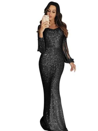 Fashion Long sleeve Purl Evening Dresses
