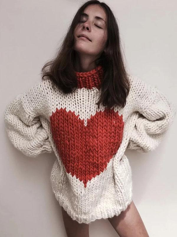 Ins Hot Fashion Knitting Loose Sweater Tops