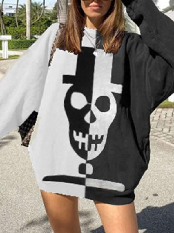 Loose Stylish Women long sleeve popular printed Sweatshirts