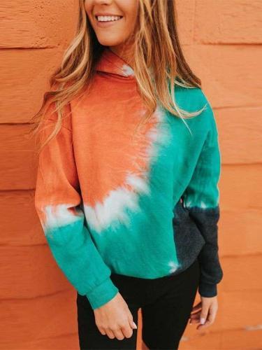Fashion Casual Tie-dye Long sleeve Hoodies Sweatshirts