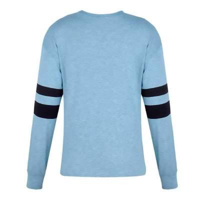 Fashion Stripe Long sleeve Fastener T-Shirts