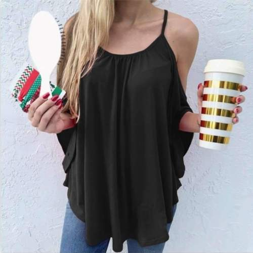 Fashion Pure Off shoulder  Batwing sleeve T-Shirts