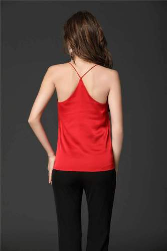 Sexy Backless Pure Round neck Vests