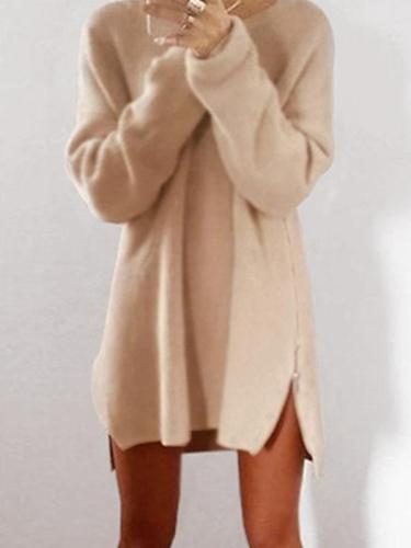Round Collar Casual Long Sleeve Oversize Sweater