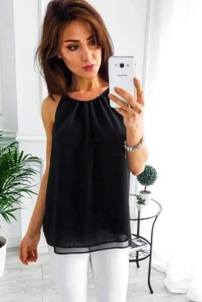 Fashion Casual Pure Round neck Sleeveless T-Shirts