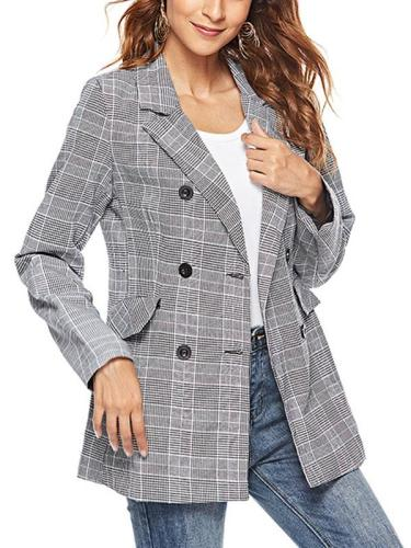 Fashion Grid Woman Autumn Blazers