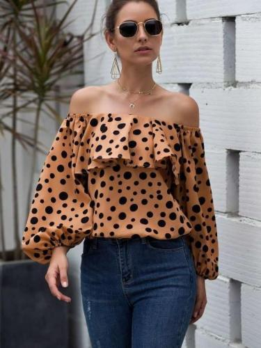 Sexy  Off shoulder Point Puff sleeve T-Shirts