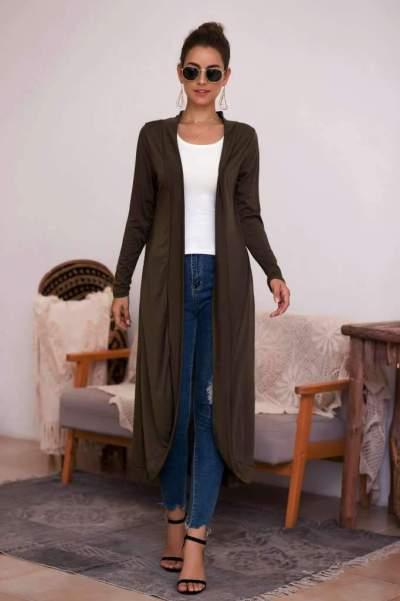 Fashion Pure Cardigan Long Coat