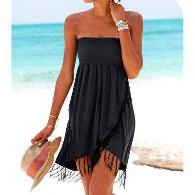 Pure Casual Vest Macrame Shift Dresses
