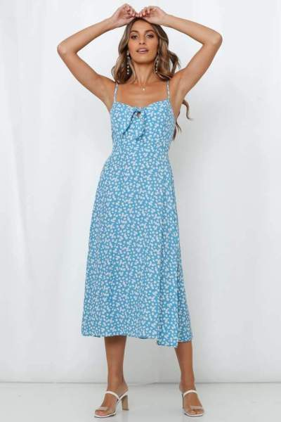 Fashion Casual Print Vest Skater Maxi Dresses