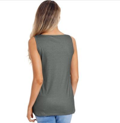 Women Pure Floral  Round neck Vest