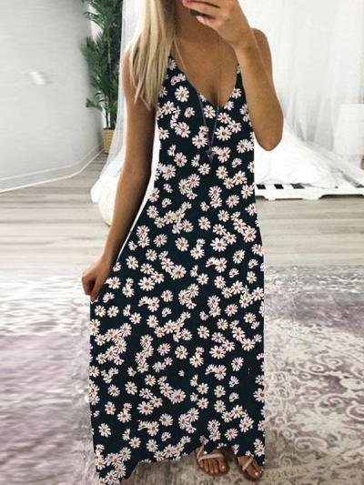Fashion Little Daisy sleeveless maxi dresses