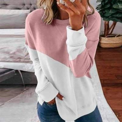 Fashion Gored Round neck Long sleeve Vent T-Shirts