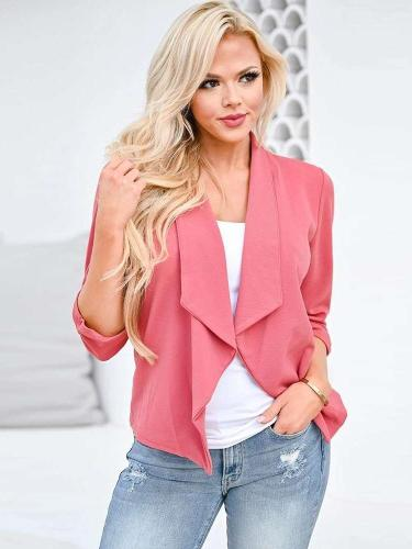 Fashion Casual Pure Lapel Long sleeve Blazer