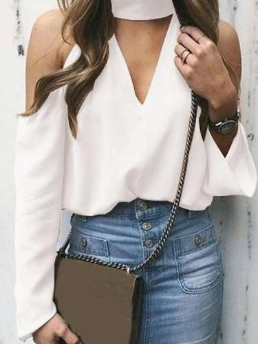 Off shoulder Sexy Long sleeve T-Shirts