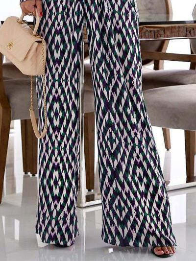 Printed waist Slim v neck jumpsuit for women