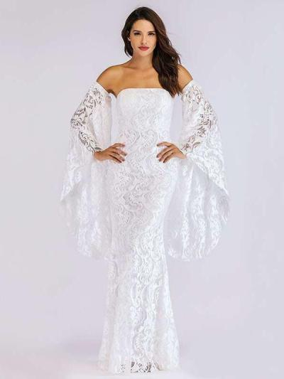 Sexy Off shoulder Lace Evening Dresses
