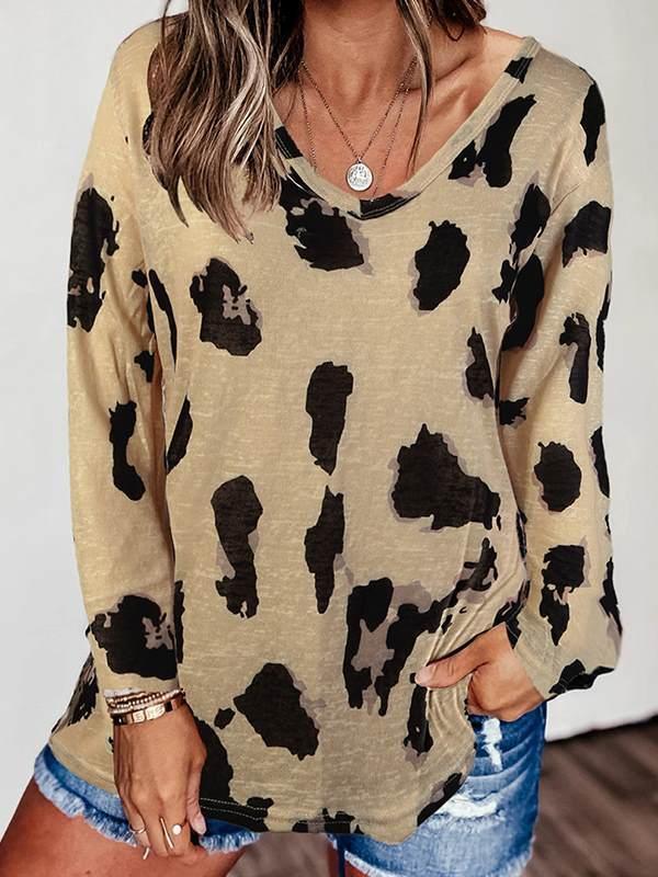 Women v neck long sleeve casual fashion T-shirts