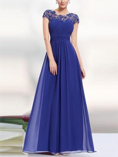 Elegant Customized Lace Fashion Lone Dress Evening Dresses