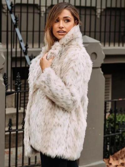 Simple Solid Colors Faux Fur Coat Outwears