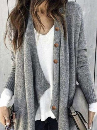 Fashion Pure Knit Long sleeve Coats