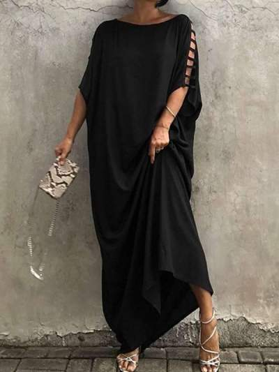 Ethnic style comfortable loose casual maxi dresses