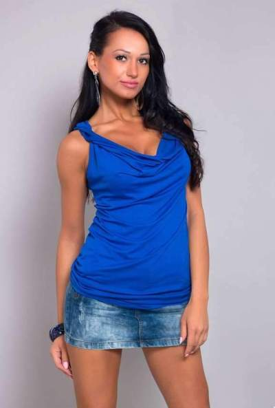 Fashion Pure V neck Vest T-Shirts