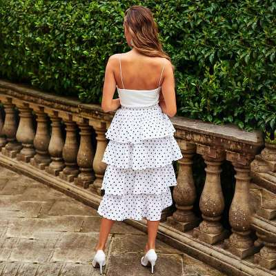 Fashion Point Falbala Skater Dresses Vest&Skirt  Suits