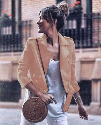 Fashion Sexy Zipper Long sleeve PU Jackets