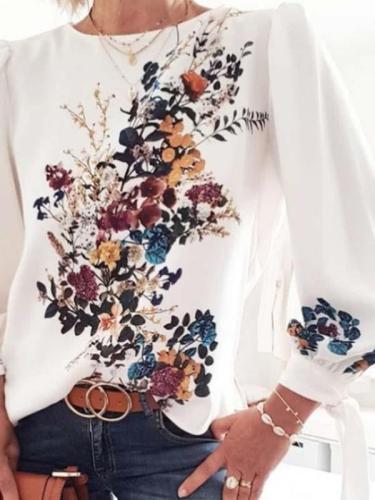 Fashion Printed floral long sleeve T-shirts